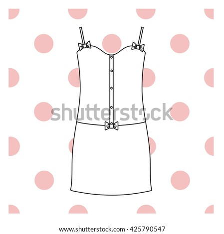 Sundress, Evening dress, combination or nightie, the silhouette.  nightgown female - stock vector