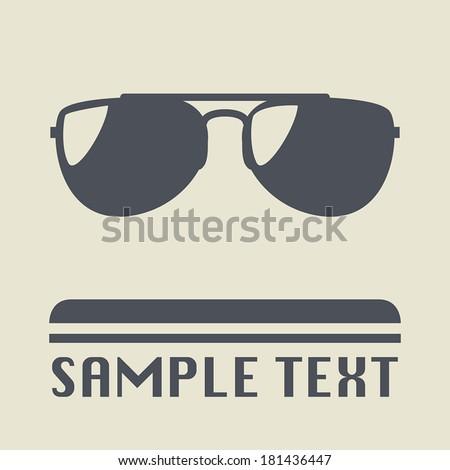Sunglasses icon or sign, vector illustration - stock vector