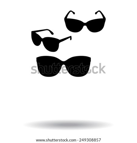 Sunglasses icon, vector illustration  - stock vector