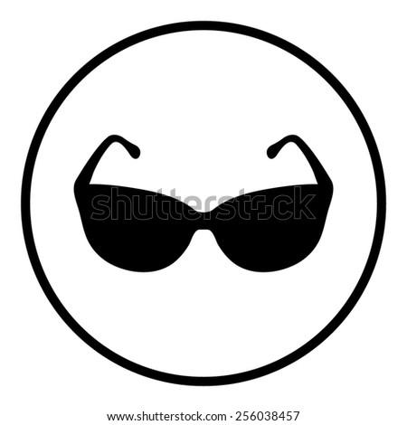 Sunglasses icon, vector illustration - stock vector