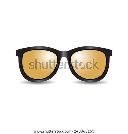 sunglasses isolated on white background - stock vector