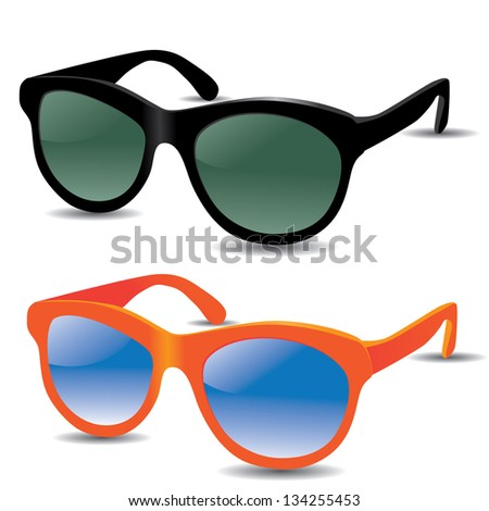 Sunglasses isolated on white. EPS 8 vector, grouped for easy editing. No open shapes or paths. - stock vector