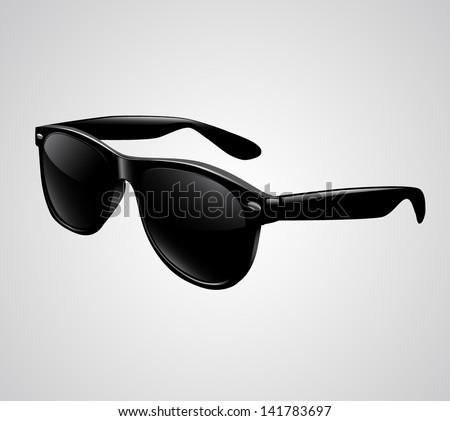 Sunglasses isolated vector illustration - stock vector