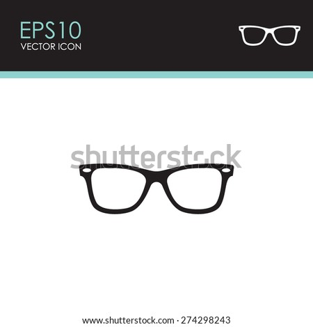 Sunglasses vector icon. - stock vector