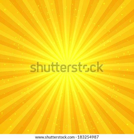 Sunny abstract background - stock vector