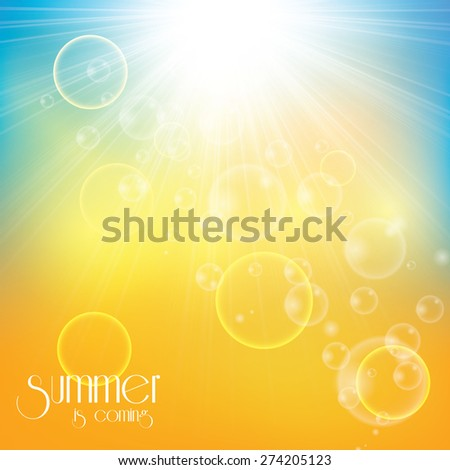 Sunny abstract sun ray background  - stock vector