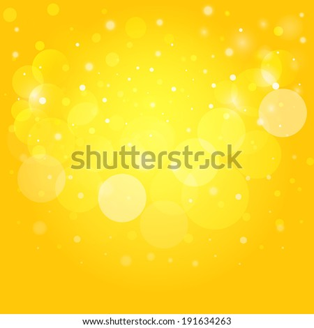 Sunny bokeh. Vector background EPS10. - stock vector
