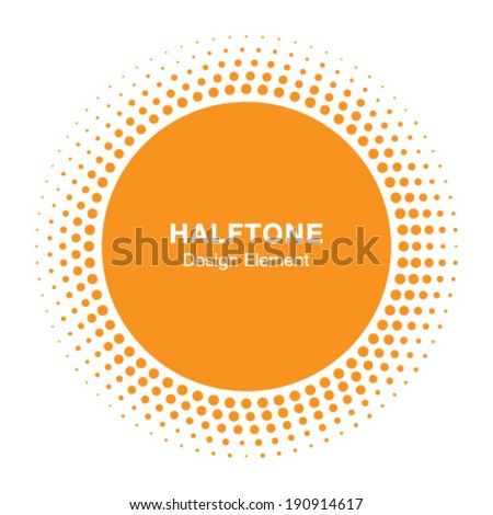 Sunny Halftone Logo Design Element, vector illustration  - stock vector