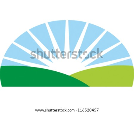 Sunrise - stock vector