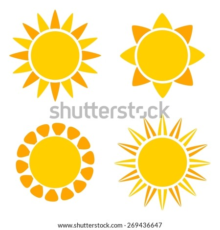 Suns icons. Vector illustration - stock vector