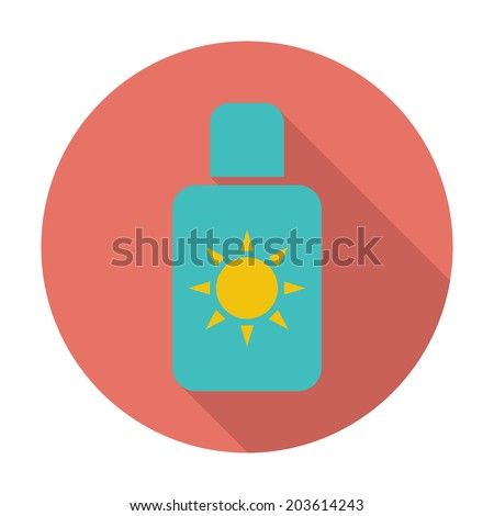 Sunscreen. Single flat color icon. Vector illustration. - stock vector