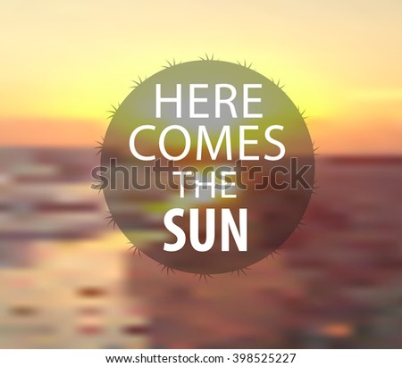 Sunset. Vector Background - stock vector