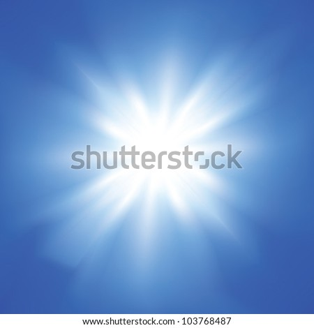 Sunshine in the blue sky - Vector EPS10 - stock vector
