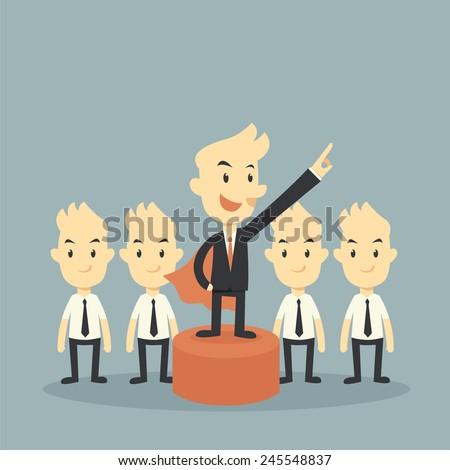 super businessman leader concept - stock vector
