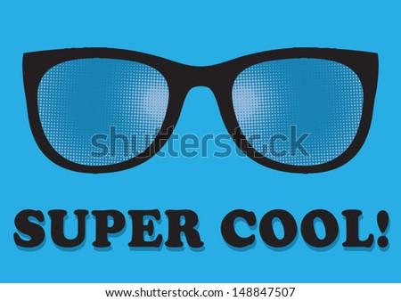 super cool - stock vector