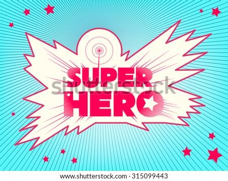 Super hero. Comic book style lettering - stock vector