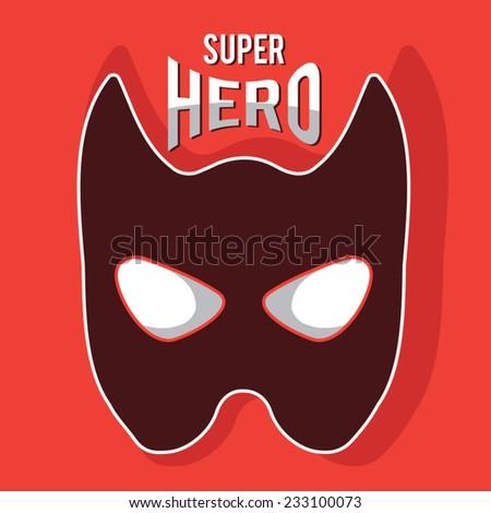 Super hero mask illustration, t-shirt graphics, vectors - stock vector