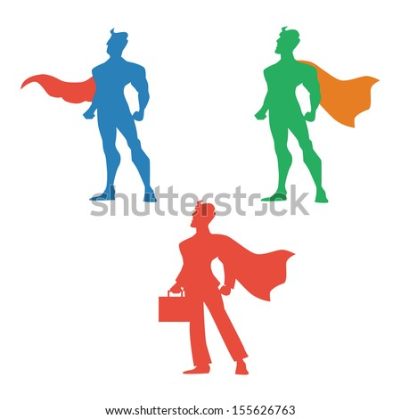 super hero vector illustration  - stock vector