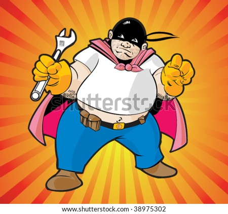 Super hero worker - stock vector