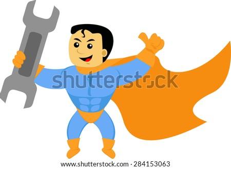 super repairman - stock vector