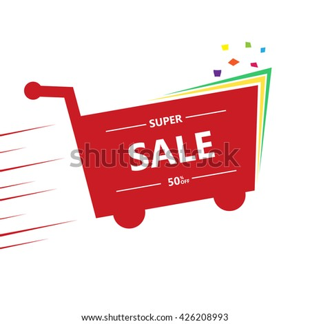 super Sale and special offer - stock vector