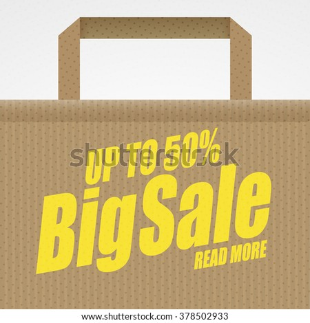 Super sale banner. Shopping bag. Sale background. Big sale. Sale tag. Sale poster. Sale vector. Super Sale and special offer. 50% off. - stock vector