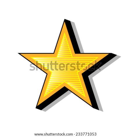 Super star. - stock vector