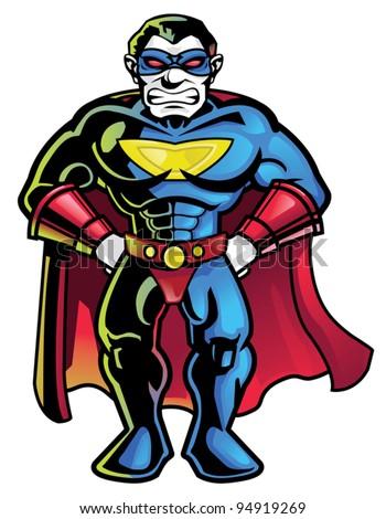 Superhero - stock vector