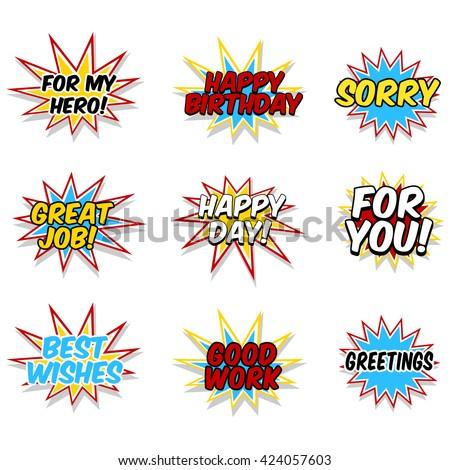 Superhero Greetings - stock vector