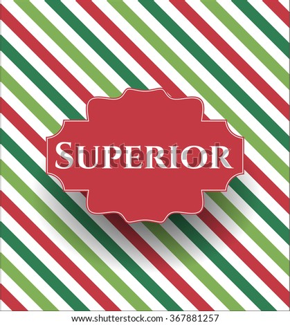 Superior card, colorful, nice design - stock vector