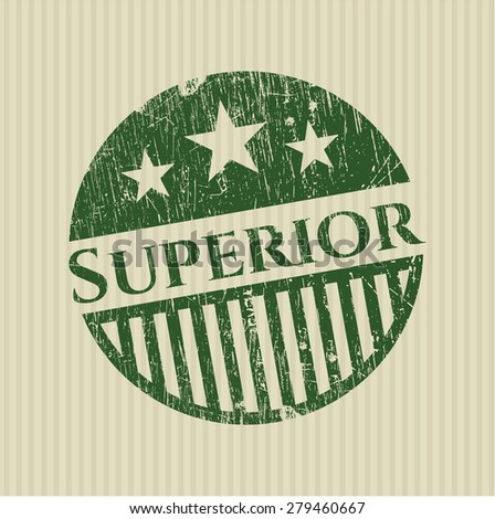 Superior green rubber stamp - stock vector