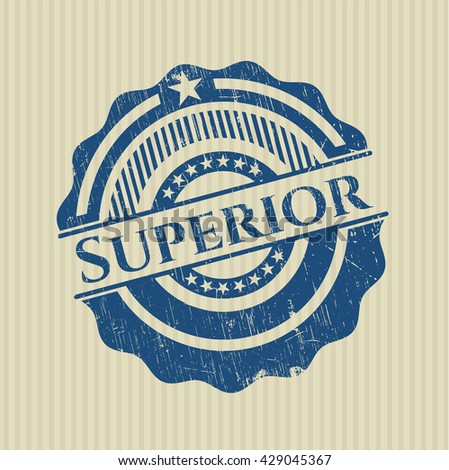 Superior grunge seal - stock vector