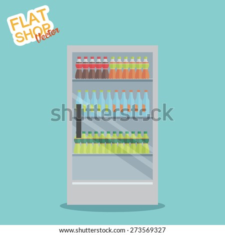 Supermarket. Flat vector - stock vector