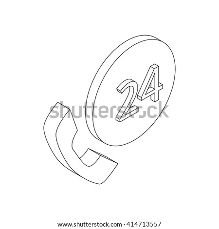 Support call center 24 hours icon - stock vector