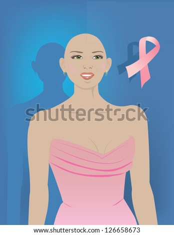 Support for Women with Breast Cancer - stock vector