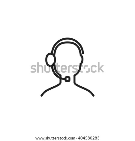 Support Outline Icon - stock vector