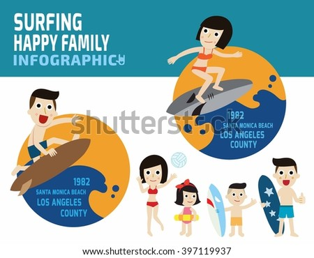 surfer man and surfer woman on Blue ocean wave.