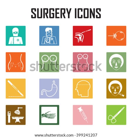 surgery icons  - stock vector