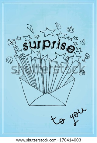 surprise to you print/ vector poster design template/ layout design/ background/ abstract web design/ wallpaper - stock vector