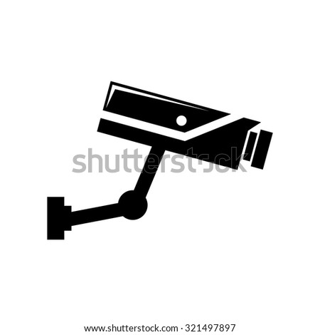 Surveillance Camera icon - stock vector