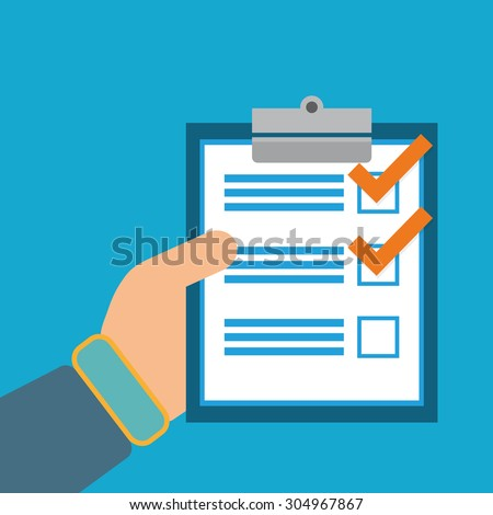 Survey digital design, vector illustration 10 eps graphic - stock vector