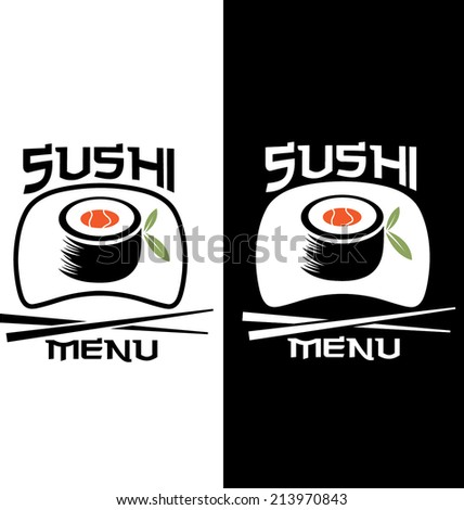 Sushi menu card template - stock vector