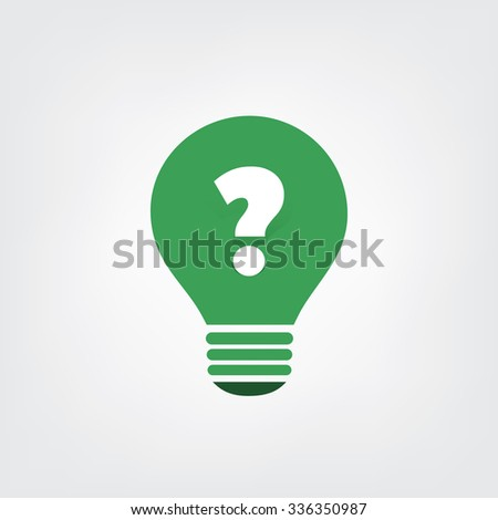 Sustainable Life  - Do You Have Questions? Or Is It A Question? - Icon Concept Design - Bulb Icon - stock vector