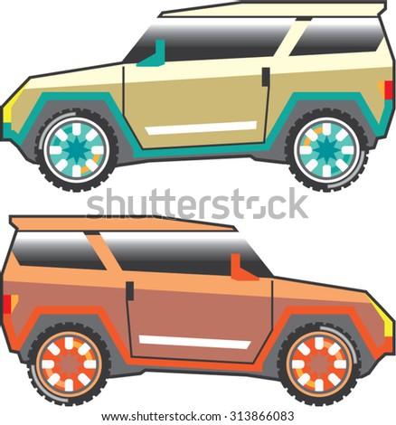 SUV vector edgy - stock vector