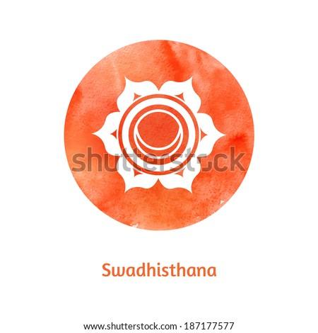 Swadhisthana chakra. Vector Illustration. - stock vector