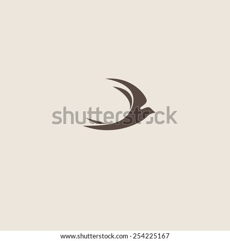 swallow icon. Vector illustration for your design - stock vector