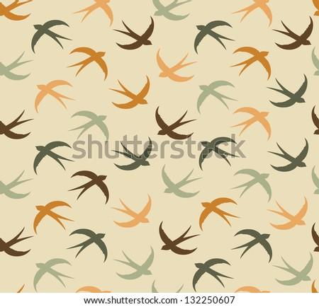 swallow pattern design. vector illustration - stock vector