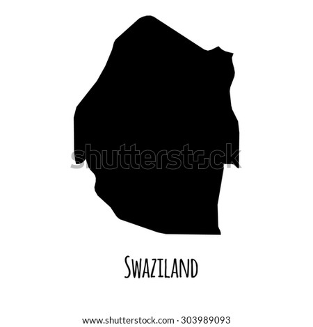 Swaziland vector map with caption on white background. Can be used as element of your infographics or presentation - stock vector