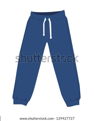 Sweatpants - stock vector