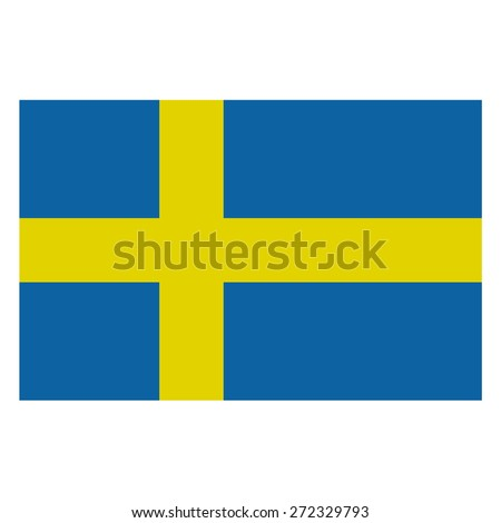 Sweden Flag - stock vector